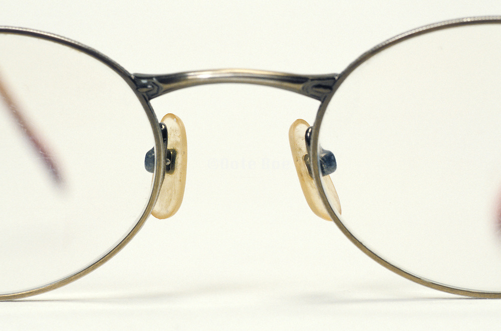 close up of eye glasses
