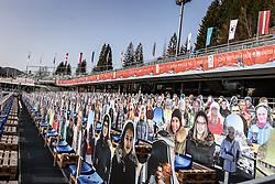 23.02.2021, Oberstdorf, GER, FIS Weltmeisterschaften Ski Nordisch, Oberstdorf 2021, Damen, Training, Skisprung, HS106, im Bild Oberstdorf supporters // during training of women ski Jumping HS106 prior to the FIS Nordic Ski World Championships 2021 Oberstdorf, Germany on 2021/02/23. EXPA Pictures © 2021, PhotoCredit: EXPA/ Tadeusz Mieczynski