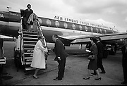 Princess Grace arrives at Dublin Airport.  Princess Grace welcomed by Lord Killanin..04.07.1965