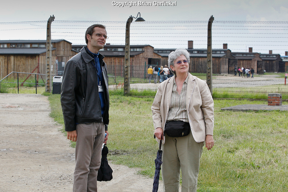 Mom and tour guide David in Auschwitz-Birkenau Concentration Camp in Poland on Tuesday July 5th 2011.  (Photo by Brian Garfinkel)
