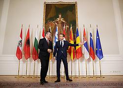 """24.09.2016, Bundeskanzleramt, Wien, AUT, Gipfeltreffen unter dem Titel """"Migration entlang der Balkanroute"""", im Bild v.l.n.r. Ministerpräsident Kroatien Tihomir Oreskovic und Bundeskanzler Christian Kern (SPÖ) // f.l.t.r. Prime Minister of Croatia Tihomir Oreskovic and Federal Chancellor of Austria Christian Kern during """"Migration along the Balkan route"""" Summit in Vienna, Austria on 2016/09/24, EXPA Pictures © 2016, PhotoCredit: EXPA/ BKA/ Andy Wenzel <br /> <br /> ***** VOLLSTÄNDIGE COPYRIGHTNENNUNG VERPFLICHTEND // MANDATORY CREDIT *****"""