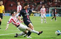 Fotball<br /> Frankrike / Irland<br /> Foto: Dppi/Digitalsport<br /> NORWAY ONLY<br /> <br /> FOOTBALL - UEFA CUP 2006/2007 - 1ST ROUND - 2ND LEG - PARIS SAINT GERMAIN v DERRY CITY FC - 28/09/2006<br /> <br /> CRISTIAN RODRIGUEZ (PSG) / EDWARD MAC CALLION (DER)