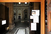 confessional seen from the entrance, San Miniato al Monte, Florence, Italy