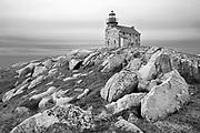 Restored granite lighthouse on the Atlantic Ocean<br />Rose Blanche<br />Newfoundland & Labrador<br />Canada