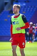 Nottingham Forest's Joe Worrall (4) in action during the pre-match warm-up before the EFL Sky Bet Championship match between Cardiff City and Nottingham Forest at the Cardiff City Stadium, Cardiff, Wales on 2 April 2021.