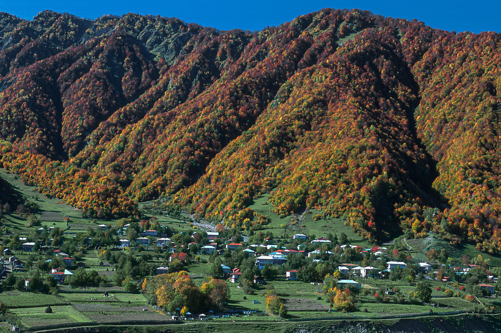 Village of Gebi, autumn, Racha Region, northwestern Country of Georgia