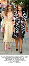 Left to right, JEMIMA KHAN and her mother LADY ANNABEL GOLDSMITH, at a wedding in Suffolk in London on 20th September 2003.PMT 87