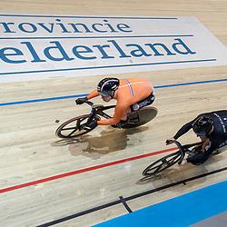 02-03-2018: Wielrennen: WK Baan: Apeldoorn<br />De mannensprinters waren snel klaar