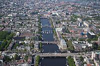 AMSTERDAM - luchtfoto  van de Amstel , centrum Amsterdam. met Theater Carre, Amstel Hotel, Stadhuis,  Stopera,  COPYRIGHT  KOEN SUYK