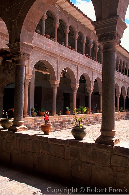 PERU, CUZCO, INCA Coricancha or Inca Sun Temple