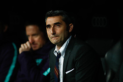 March 2, 2019 - Madrid, MADRID, SPAIN - Ernesto Valverde, coach of FC Barcelona, during the spanish league, La Liga, football match played between Real Madrid and FC Barcelona at Santiago Bernabeu Stadium in Madrid, Spain, on March 02, 2019. (Credit Image: © AFP7 via ZUMA Wire)