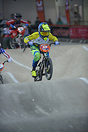 Caroline Buchanan, Australia Powers ahead in the Final,BMX World Cup Finals at  at the Manchester Arena, Manchester, United Kingdom on 19 April 2015. Photo by Charlotte Graham.