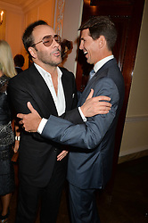 Left to right, TOM FORD and CROWN PRINCE PAVLOS OF GREECE at a party hosed by the US Ambassador to the UK Matthew Barzun, his wife Brooke Barzun and editor of UK Vogue Alexandra Shulman in association with J Crew to celebrate London Fashion Week held at Winfield House, Regent's Park, London on 16th September 2014.