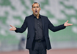 Venezuela's head coach Rafael Dudamel react during the international friendly soccer match between Iran and Venezuela at Al Ahli Stadium Doha, Capital of Qatar, November 20, 2018. The match ended with a 1-1 draw. (Credit Image: © Nikku/Xinhua via ZUMA Wire)