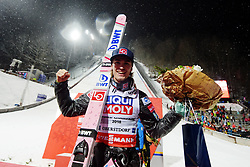 January 20, 2018 - Oberstdorf, GERMANY - 180120 Daniel-André Tande of Norway celebrates while posing for a picture after winning the FIS Ski Flying World Championships on January 20, 2018 in Oberstdorf..Photo: Vegard Wivestad Grøtt / BILDBYRÃ…N / kod VG / 170080 (Credit Image: © Vegard Wivestad GrØTt/Bildbyran via ZUMA Wire)