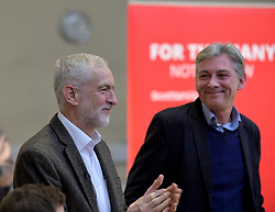 Pictured: Jeremy Corbyn and Richard Leonard.<br /> <br /> Labour leader Jeremy Corbyn travelled to Scotland to attend a festive lunch for homeless charities and volunteers in Edinburgh on Sunday, along with Scottish Labour leader Richard Leonard.<br /> <br /> © Dave Johnston / EEm