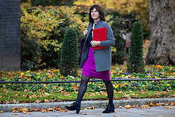 © Licensed to London News Pictures. 13/11/2018. London, UK. Minister of State at Department for Business, Energy and Industrial Strategy Claire Perry arrives on Downing Street for the Cabinet meeting. Photo credit: Rob Pinney/LNP