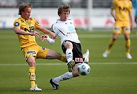 Fotball , 14. juni  2009 , Tippeligaen ,  Odd - Bodø/Glimt 4-0<br /> <br /> Håvard Storbæk , Odd mot Runar Berg , Glimt