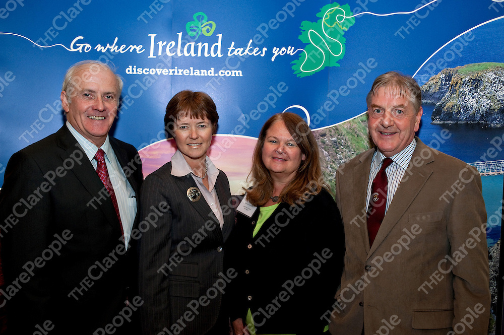 Pictured at the ÔExperience a Flavor of IrelandÕ business-to-business event in Dallas are John Hehir, Dromoland Castle; Alison Metcalfe, Tourism Ireland, Alynne B Hanford, American Airlines; and Ken McElroy, KM Tour Guiding Services Northern Ireland.<br /> Ê<br /> Pictured at the 'Experience a Flavor of Ireland' business-to-business event in Dallas are John Hehir, Dromoland Castle; Alison Metcalfe, Tourism Ireland, Alynne B Hanford, American Airlines; and Ken McElroy, KM Tour Guiding Services Northern Ireland.<br />