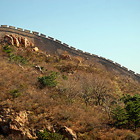 Asia, China, Beijing. The Great Wall of China, a UNESCO World Heritage Site.