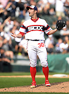 CHICAGO - AUGUST 21:  David Robertson #30 of the Chicago White Sox reacts after the last out was made against the Oakland Athletics on August 21, 2016 at U.S. Cellular Field in Chicago, Illinois.  The White Sox defeated the Athletics 4-2.  (Photo by Ron Vesely)   Subject:   David Robertson