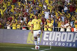 June 13, 2017 - Getafe, Spain - Colombia´s  James Rodríguez during friendly match played at the Coliseum Stadium Alfonso Perez, Getafe, Tuesday June 13, 2017. (Credit Image: © Luis Salgado/NurPhoto via ZUMA Press)