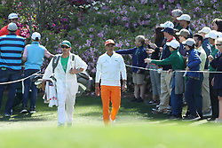 April 8, 2018 - Augusta, GA, USA - Rickie Fowler walks to the sixth during the final round of the Masters at Augusta National Golf Club on Sunday, April 8, 2018, in Augusta, Ga. (Credit Image: © Jason Getz/TNS via ZUMA Wire)
