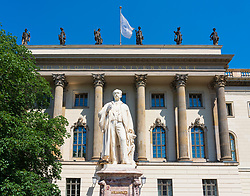 Statue of Helmholtz at Humboldt University in Berlin, Germany