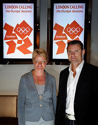 28-10-2011 PORTRET: LONDON CALLING: AMSTERDAM<br /> In het Amsterdamse DeLaMar theater werd de London calling sessie met oud Olympiers  gehouden / (L-R) Ellen van Langen en Mark Huizinga<br /> ©2011-FotoHoogendoorn.nl