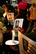 Protesters attend a vigil outside at the Irish embassy in Brussels on November 21st following the tragic death Savita Halappanavar on October 28. The gathering was organised for Irish citizens abroad and other nationalities to show their solidarity with women in Ireland, and to call on the Irish government to take action on abortion and women's right to choose. <br />