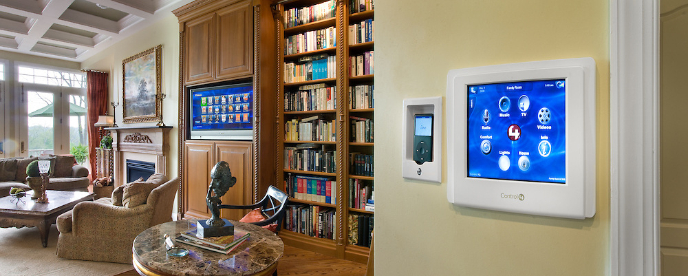 Home automation LED monitor controls utilities,music,lights,heating and cooling