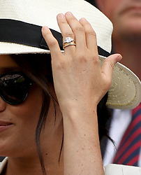 LONDON, ENGLAND - JULY 04: Meghan, Duchess of Sussex attends day four of the Wimbledon Tennis Championships at All England Lawn Tennis and Croquet Club on July 04, 2019 in London, England. ...People:  Meghan, Duchess of Sussex. (Credit Image: © SMG via ZUMA Wire)