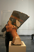 Bust of Nefertiti (c1370- c1330 BC) Great Royal Wife (chief consort) to the Egyptian Pharaoh Akhenaten. Nefertiti and her husband were known for a religious revolution. They started to worship one god only, Aten, the sun's disc.