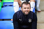 Luton Town manager Nathan Jones before the EFL Sky Bet League 1 match between Peterborough United and Luton Town at London Road, Peterborough, England on 18 August 2018.