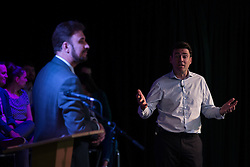 © Licensed to London News Pictures  . 05/09/2015 . Manchester , UK . ANDY BURNHAM speaks at a rally for his campaign to be the next leader of the Labour Party , at Kings House Conference Centre in Manchester . Photo credit: Joel Goodman/LNP
