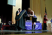 SHOT 5/10/15 3:15:19 PM - Naropa University Spring 2015 Commencement ceremonies at Macky Auditorium in Boulder, Co. Sunday. Parker J. Palmer, a world-renowned author and activist known for his work in education and social change, delivered the commencement speech to more than 300 graduate and undergraduate students along with Naropa faculty and graduate's family members. Naropa University is a private liberal arts college in Boulder, Colorado founded in 1974 by Tibetan Buddhist teacher and Oxford University scholar Chögyam Trungpa. (Photo by Marc Piscotty / © 2014)