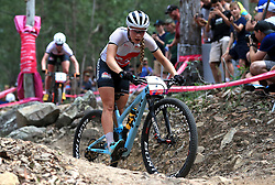 England's Evie Richards competes in the Women's Cross-Country at the Nerang Mountain Bike Trails during day eight of the 2018 Commonwealth Games in the Gold Coast, Australia.