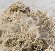 An eruption of mud and water at Mud Volcano in Yellowstone National Park creates unique patterns and shapes during each eruption