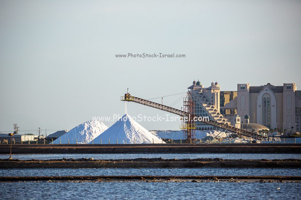 Salt of the Earth Salt factory near Eilat, Israel