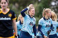 LAREN - Hockey - Hoofklasse competitie dames . Laren-Den Bosch (1-2). Lieke van Wijk van Laren COPYRIGHT KOEN SUYK