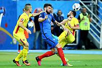 Olivier Giroud France, Razvan Rat Romania <br /> Paris 10-06-2016 Stade de France Footballl Euro2016 France - Romania  / Francia - Romania Group Stage Group A. Foto Matteo Ciambelli / Insidefoto