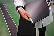 Nederland, Arnhem, 24-6-2009Flexibele folie met zonnecellen in de nieuwe zonnepanelen fabriek van NUON. De fabriek werd vandaag gepresenteerd en sommige delen mochten niet gefotografeerd worden. Een vierkante meter van de folie levert 50 Kwh aan stroom.Foto: Flip Franssen/Hollandse Hoogte