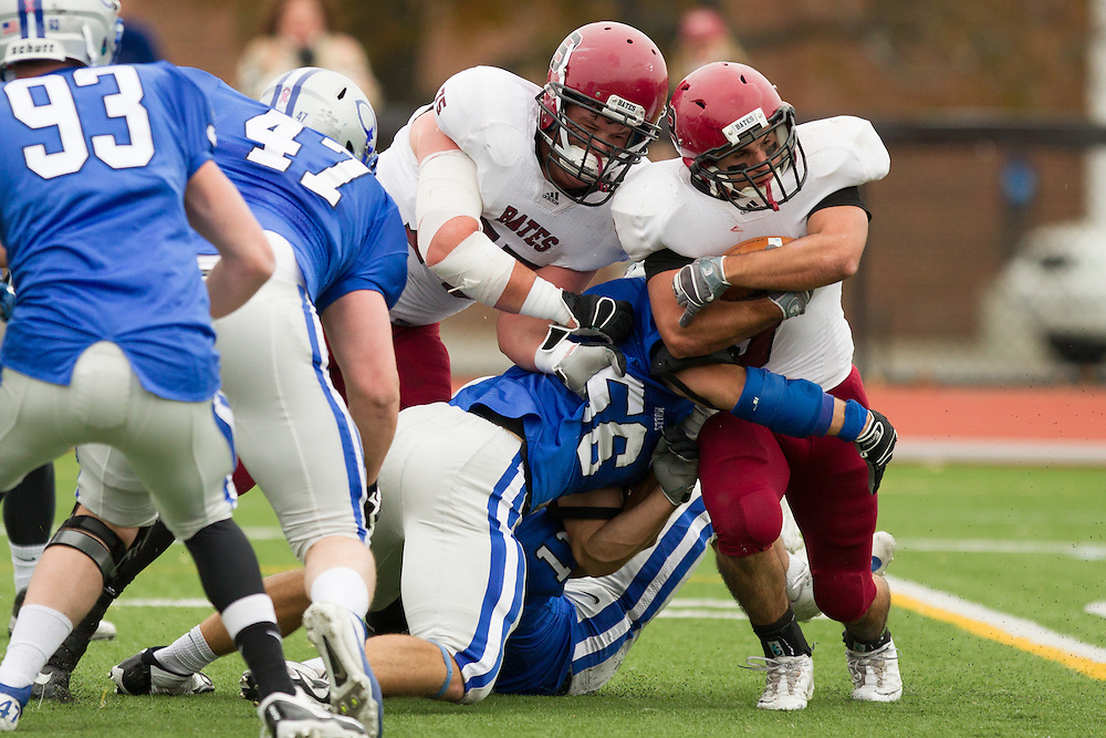 Caleb Harris, of Colby College, in a NCAA Division III football game against Bates College on October 26, 2013 in Waterville, ME. (Dustin Satloff/Colby College Athletics)
