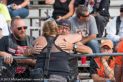 Missi Shoemaker at the drag racing finals at the Stugis Dragway during the Annual Sturgis Black Hills Motorcycle Rally. Sturgis, SD, USA. Monday August 7, 2017. Photography ©2017 Michael Lichter.