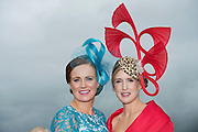 30/07/2015 report free : Winners Announced in Kilkenny Best Dressed Lady, Kilkenny Best Irish Design & Kilkenny Best Hat Competition at Galway Races Ladies Day <br /> At the event was Cathy Dillon and Tara Lally-McGrath from Tuam.  <br /> Photo:Andrew Downes, xposure