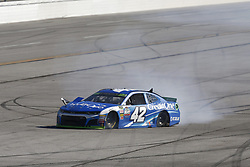 October 14, 2018 - Talladega, Alabama, United States of America - Kyle Larson (42) spins to the infield during the 1000Bulbs.com 500 at Talladega Superspeedway in Talladega, Alabama. (Credit Image: © Chris Owens Asp Inc/ASP via ZUMA Wire)