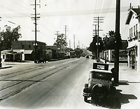 1929 Looking west on Santa Monica Blvd. from Gower Ave.