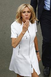 July 13, 2017 - Paris, France - Brigitte Macron leave the boat peniche after the Paris Tour in Paris, France, on July 13, 2017. (Credit Image: © Mehdi Taamallah/NurPhoto via ZUMA Press)