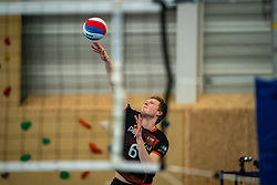 LuukHofhuis of Talent Team in action during the first league match in the corona lockdown between Talentteam Papendal vs. Vocasa on January 13, 2021 in Ede.