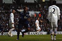 Photo: Tony Oudot.<br /> Tottenham Hotspur v Everton. The Barclays Premiership. 14/08/2007.<br /> Joleon Lescott celebrates after scoring for Everton